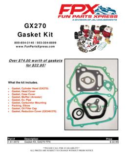 GX270 Gasket Kit