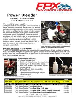 Brake Bleeder Tool