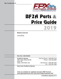 Honda BF2A Parts guide – 2019