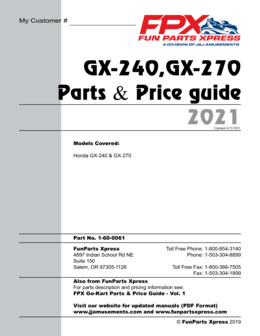 GX-240-270 Parts Guide