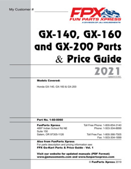 GX140-160-200 Parts Guide