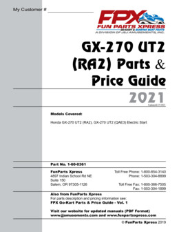 GX270 UT2 Parts Guide
